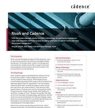 Ricoh and Cadence