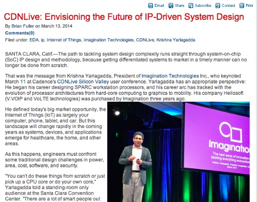 CDNLive: Envisioning the Future of IP-Driven System Design