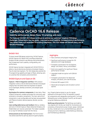 Product Overview, OrCAD 16.6