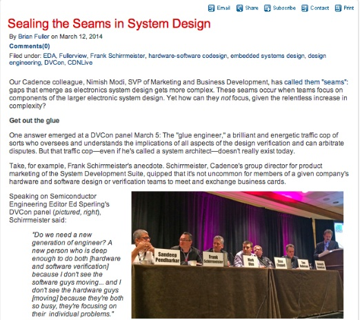 Blogger Brian Fuller: Sealing the Seams in System Design